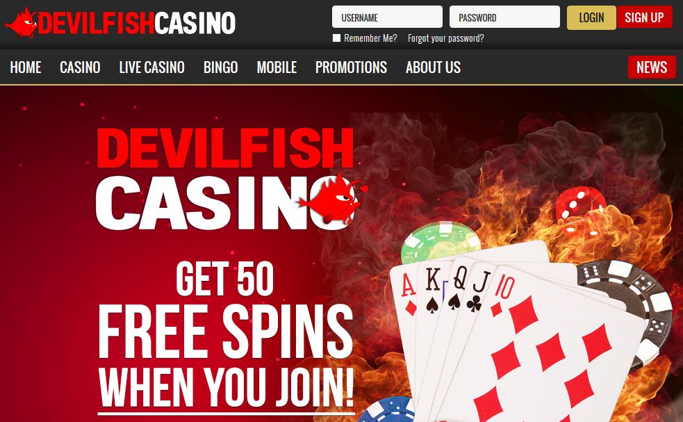 Devilfish casino 50 free spins