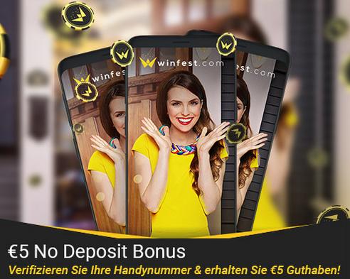 winfest no deposit