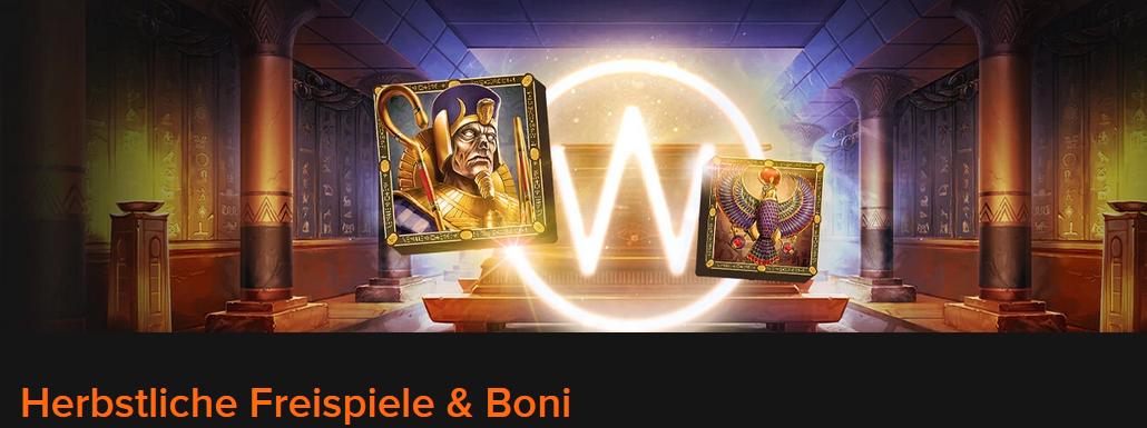 Casinowinner Herbstliche Freispiele und Boni