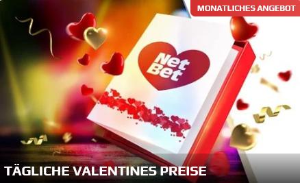 Tägliche Valentines Preise bei NETBET