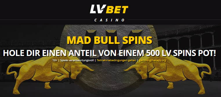 Mad Bull Spins bei LVBET
