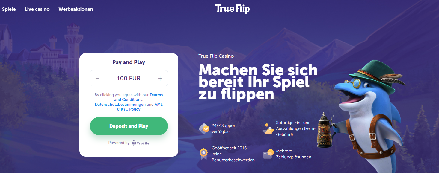 Trueflip.com Pay n Play