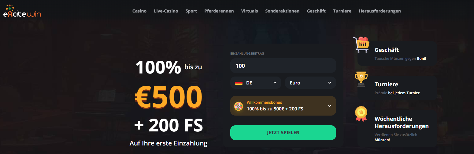 Excitewin Freespins