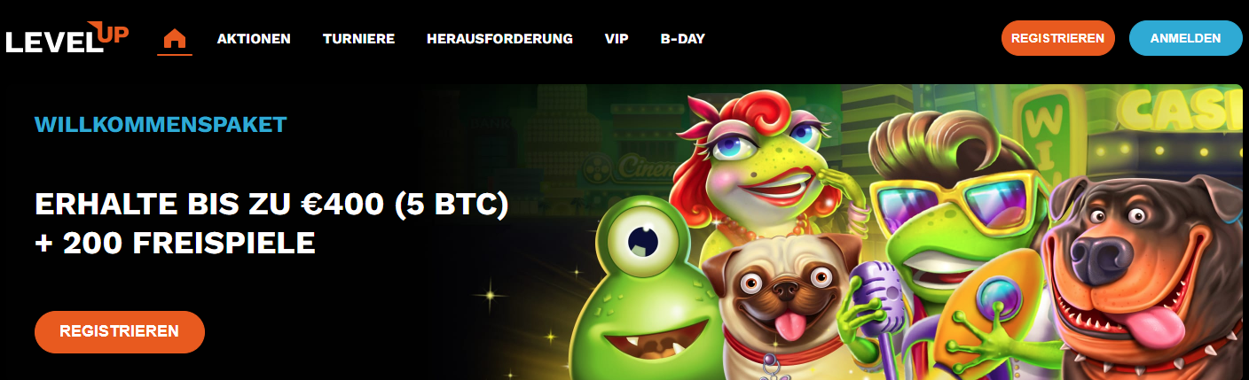 LevelUp Freespins